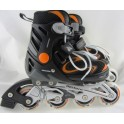 łyżworolki METEOR XRIDE 200 black/orange, S 31-34